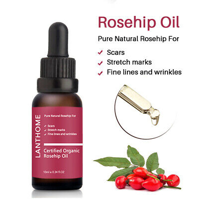Rosehip Seed Oil Organic 100% Pure Acne Scar Stretch Marks Removal Essential - Scar Fluid