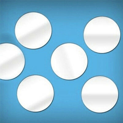 (50pcs 5*5CM Round Acrylic Mirror Background 3D reflecting mirror stickers )