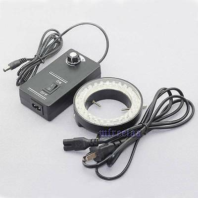 60-led Adjustable Ring Light Illuminator Lamp For Stereo Zoom Microscope Us Ship