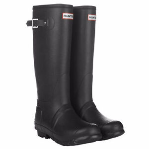 Women's Black Matte Hunter Boots
