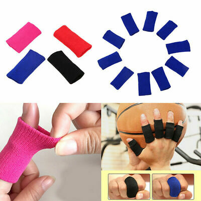 10Pcs Finger Protector Sleeve Support Basketball Sports Aid Arthritis Band Wraps