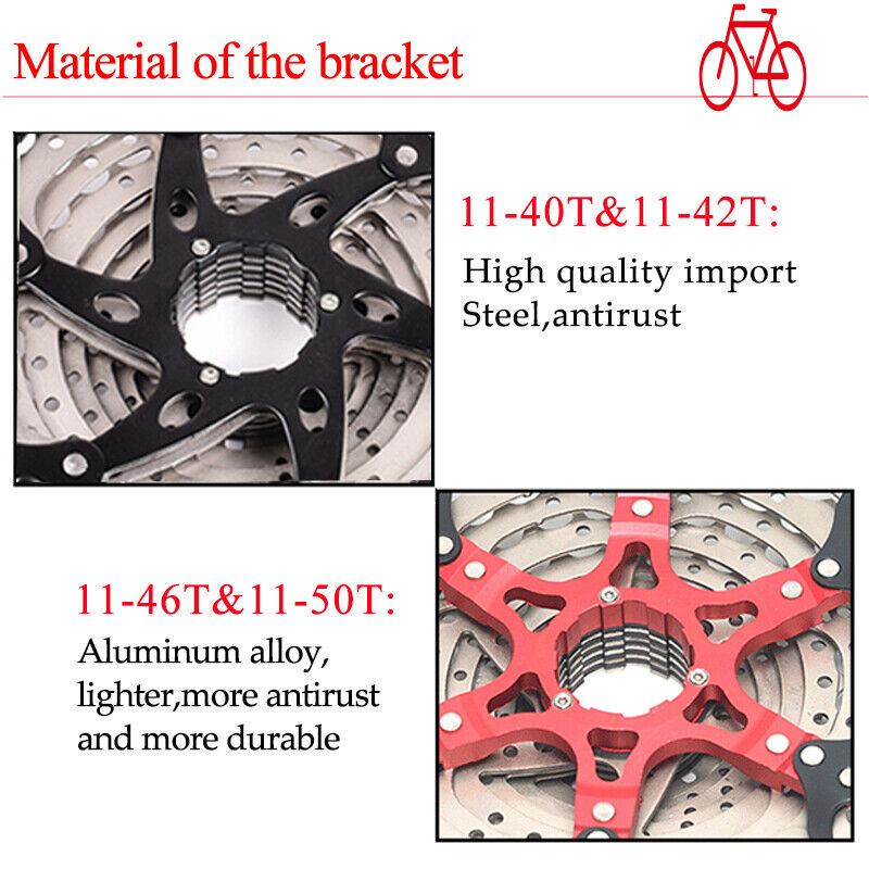 SUNRACE 8//9//10//11s 11-40//42//46t Detachable MTB Cassette KMC Chain Sprocket Hook