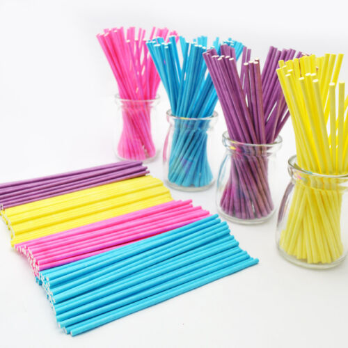 50 Colorful Pop Lollipop Candy Sticks DIY