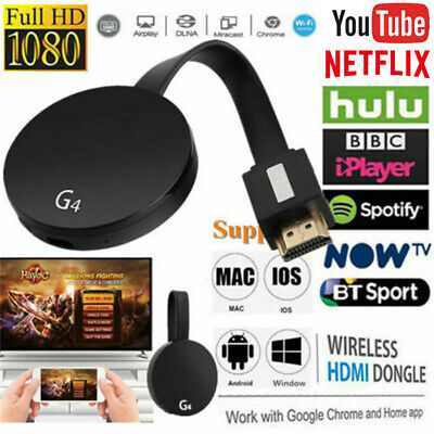 Chromecast 4rd Generation 1080P Digital HDMI Media Video Streamer Player New JE