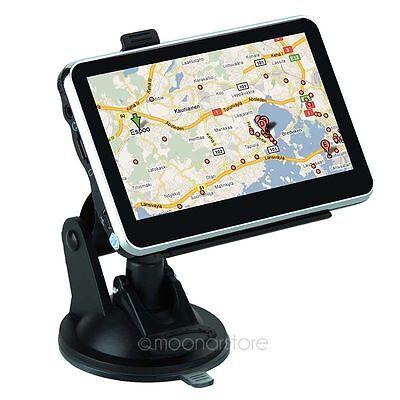 UK 4.3 Inch Car GPS Navigation SAT NAV TOM SpeedCam FM TOM Free CA Map 4GB
