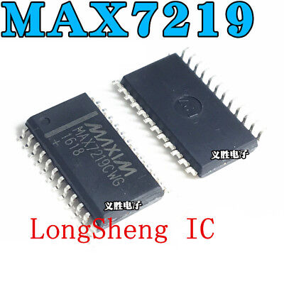 5pcs Ic Max7219 Sop24 Driver Led Display New Max7219cwg New