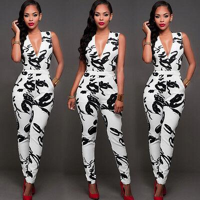 USA Women Ladies Clubwear Summer Playsuit Bodycon Party Jumpsuit Romper - Womens Clubwear