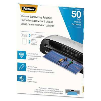 Fellowes Thermal Laminating Pouches 3 Mil 9 X 11.5 Matte Cl 043859736577