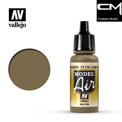 Vallejo Model Air 71.116 Camouflage Grey Green RAL7008 17ml Airbrush Paint