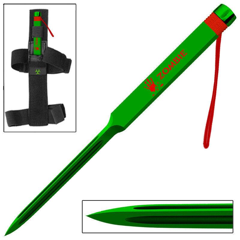 Zombie Killer ApocalypticTriple Edge Death Ninja Spike Nail- Green