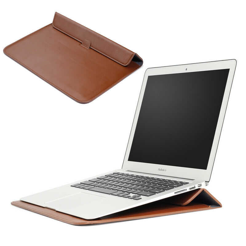 a9f10564f080f Details about PU Leather Sleeve Bag Laptop Case with Stand for MacBook Air  Pro 11