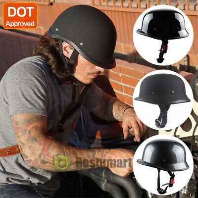 DOT Motorcycle German Half Face Helmet Chopper Cruiser Biker Scooter M/L/XL 2019