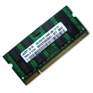 Samsung 2GB DDR2 800MHz PC2-6400 SODIMM Laptop Memory