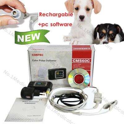 Vet Spo2 Pulse Oximeter Catdog Veterinary Blood Oxygen Eartongue Probesw
