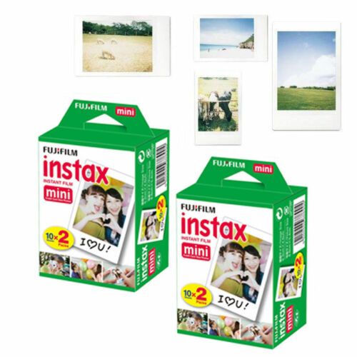 40 Sheets Fujifilm Instax Mini Plain White Film For Instant 25 50s 7s 8 70 90