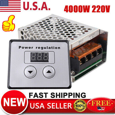 4000w Ac 110v 220v Scr Voltage Regulator Motor Speed Control Semiconductor Us