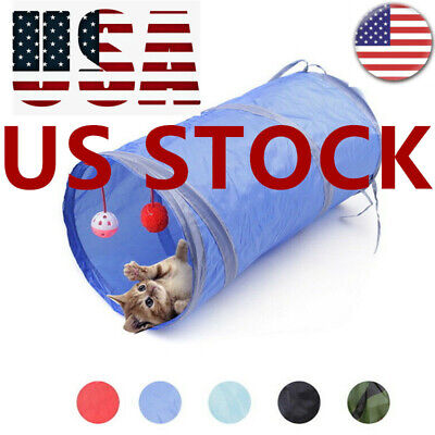 Pet Cat Tunnel Toys Rabbit Pop Up Tube Collapsible Puppy Kitten Play Toy F/1