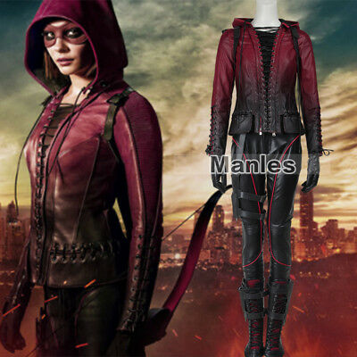 Green Arrow 4 Cosplay Red Arrow Thea Queen Speedy Costume Holloween Women Outfit (Holloween Outfits)