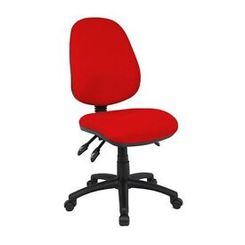 JOB LOT 24 x FUTURE OFFICE SARA HIGH BACK OFFICE CHAIR RED BLUE CHAIRS RRP £3000