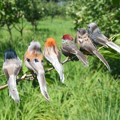 4pcs Clip Vintage Bird Props Decor Feather Christmas Tree Festival Bauble Animal