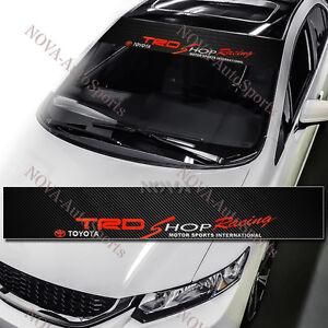 TRD Racing Car Windshield Carbon Fiber Vinyl Banner Decal Sticker For TOYOTA 53