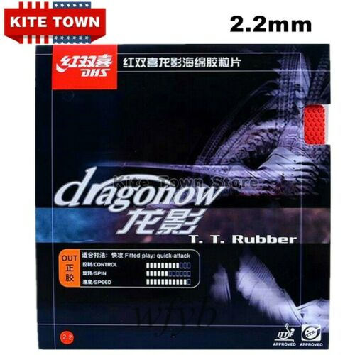 DHS Dragonow Table Tennis Ping Pong Bat Pips-out Rubbers Sponge 2.2mm