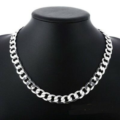 Chain Necklace Gift Box (925 STERLING SILVER 6MM thick CURB chain 21