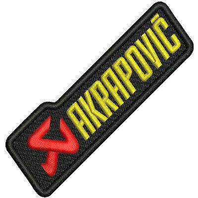 Biker Racing Fan aufnäher Akrapovic 10 x 2,8cm