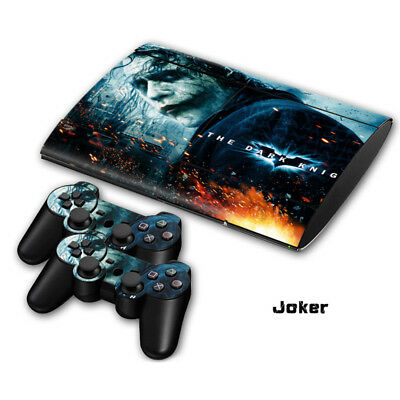 PS3 SUPER SLIM Console Controllers Skins Joker The Dark Knight Decals Stickers