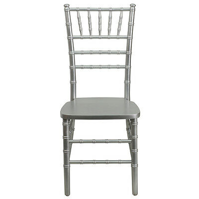Wood Chiavari Ballroom Chair Stacking Chairs Silver Finish