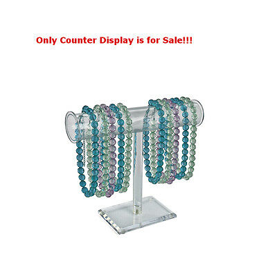 Acrylic Clear Singlepole Necklace Counter Display 12h X 14w Inches - Pack Of 2