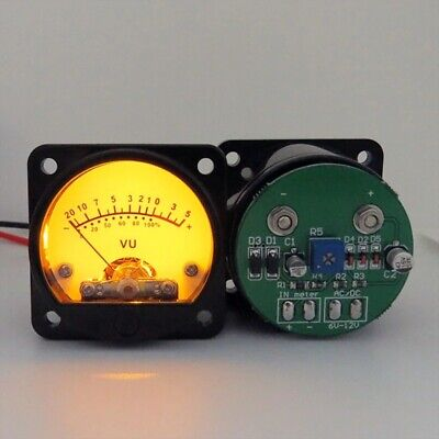 2pcs Vu Meter Stereo Amplifier Board Level Indicator Adjustable With Driver 45mm