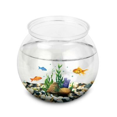 Plastic Fish Bowls Round Clear Aquarium One-piece Construction Shatterproof