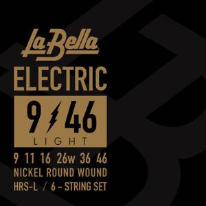 Lot de cordes de guitare électrique LA BELLA Guitar strings 9-46