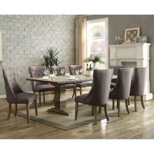 Granada 9 piece living room dining table and chairs set