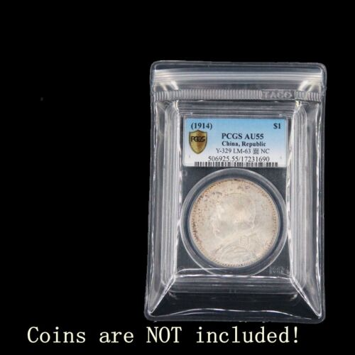 25 x Coin Protector Plastic Pocket Zip Bags for Graded Slabs Holders NGC PCGS
