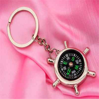Portable Compass Keychain Key Ring Outdoor Sports Hike Camping Metal Key Chain