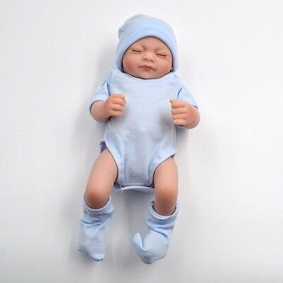 "11"" Handmade Reborn Real Looking Newborn Baby Vinyl Silicone Doll Girl Christmas"