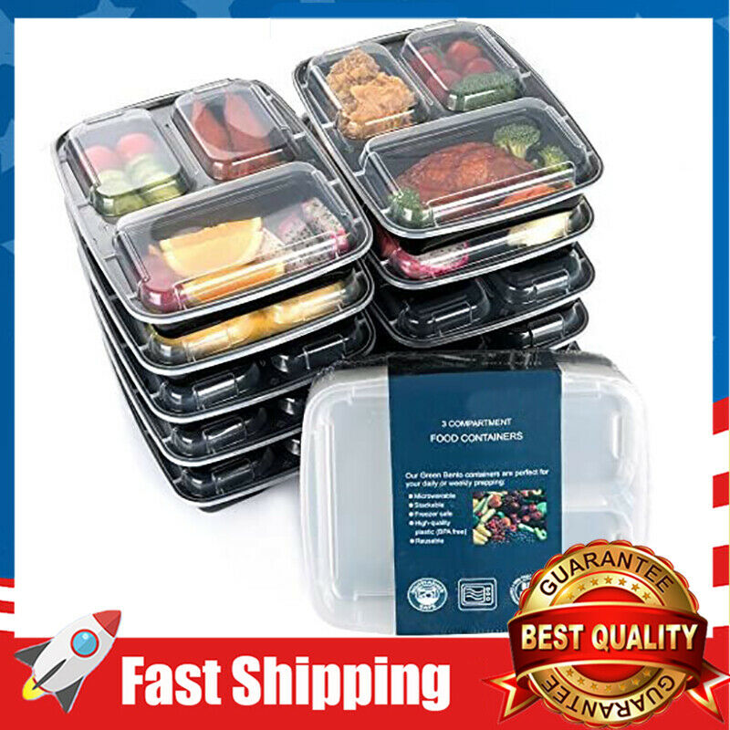 30 Pack Compartment Meal Prep Food Storage Reusable Lunch Co