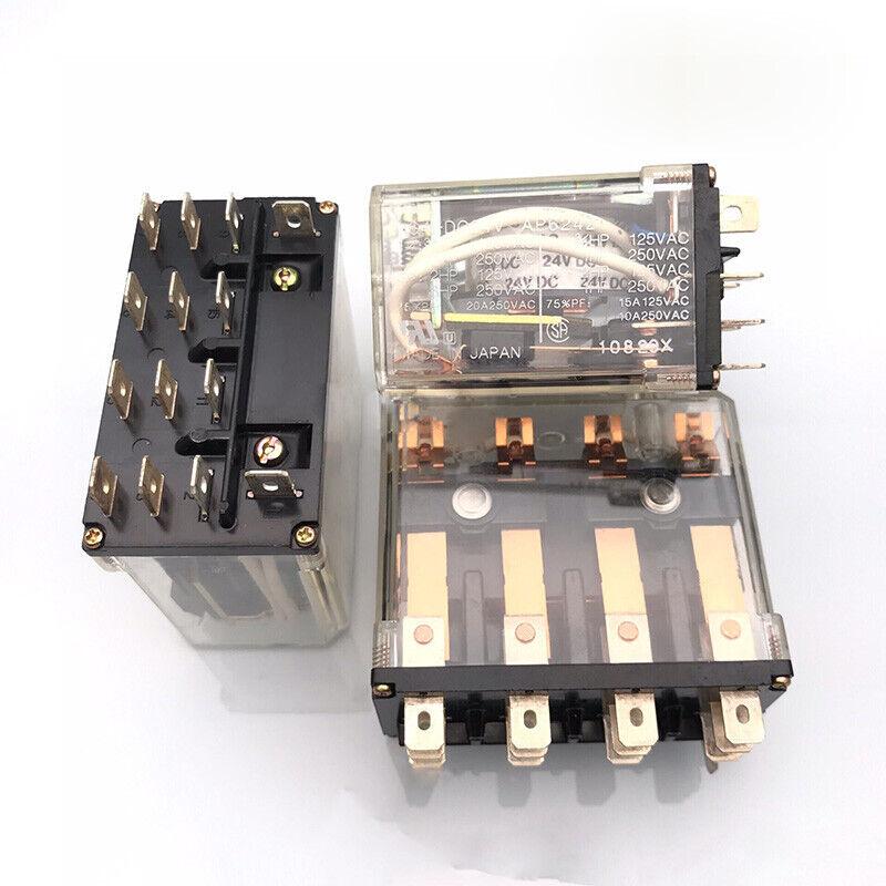 5PCS PANASONIC HG4-DC24V Power Relay 24VDC 14Pin 15A 125VAC
