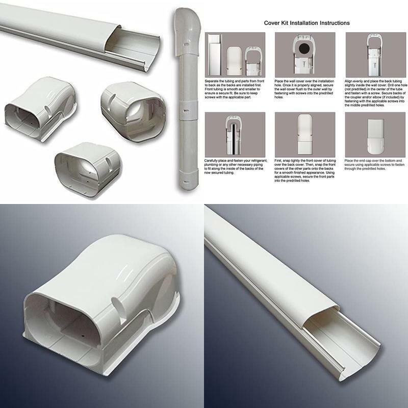 """Air Conditioner Accessories 7.5 Ft Line Set Cover Kit 3"""" For"""