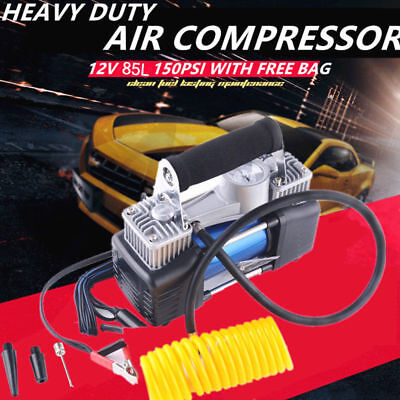 Portable Car Auto Electric Air Compressor Tire Inflator Pump 12v 150psi 85lmin