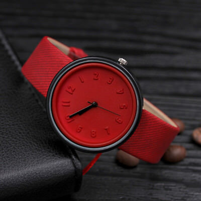 Fashion Womens Stainless Steel Watches Retro Quartz Analog Canvas Wrist Watch