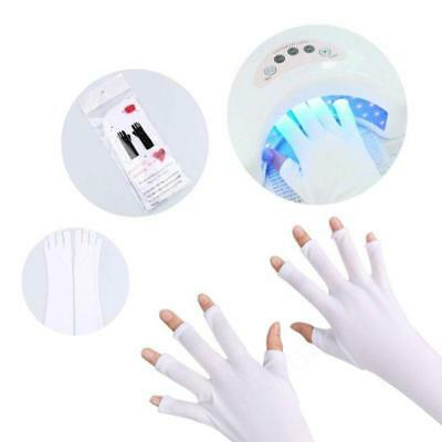 Nail Art UV Gel Protection Polish Tips Lamp Anti-Ultraviolet Open-Toed Gloves (Nails Gloves)