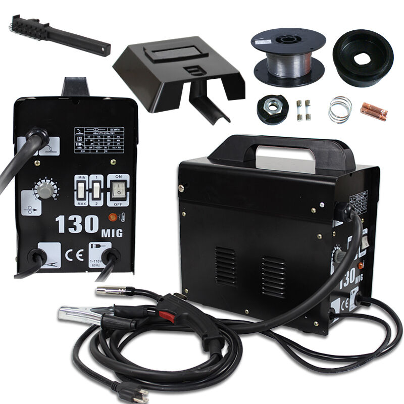 Mig130 Gas-less Flux Core Wire Welder Welding Machine AC Current MIG 130 Business & Industrial