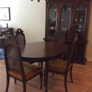 Beautiful dining room table and hutch