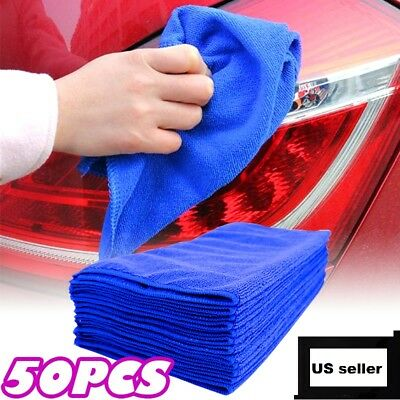 Set of 50 Microfiber Cleaning Cloth Towel No Scratch Rag Car Polishing Detailing