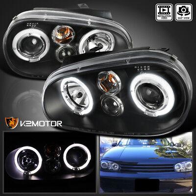 For 1999-2005 VW Golf GTI R32 MK4 Black Projector Headlights