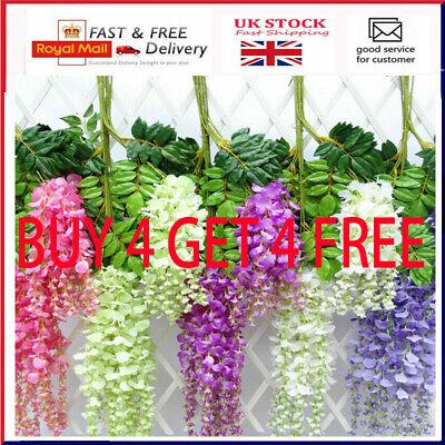 Home Decoration - Artificial Hanging Wisteria Fake Silk Flower for Home Wedding Garden Party Decor