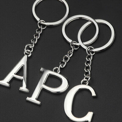 Initial Letter Charm Alloy Keychain Keyring Key Ring Chain Men Women Accessories